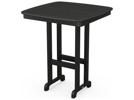 POLYWOOD® Nautical Recycled Plastic 37'' Wide Square Bar Table
