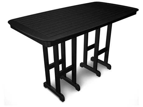 POLYWOOD® Nautical Recycled Plastic 72 x 37 Rectangular Bar Table