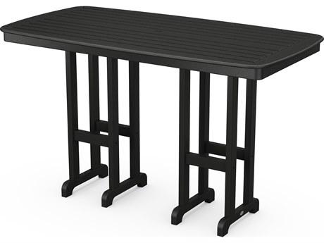 POLYWOOD® Nautical Recycled Plastic 72''W x 37''D Rectangular Bar Table