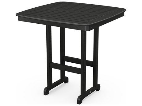POLYWOOD® Nautical Recycled Plastic 44'' Wide Square Bar Table