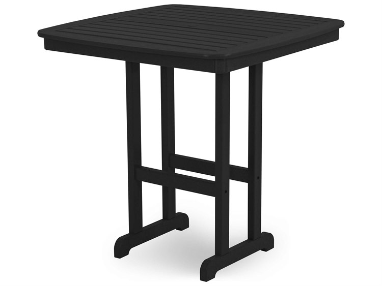 POLYWOOD® Nautical Recycled Plastic 44 Square Bar Table