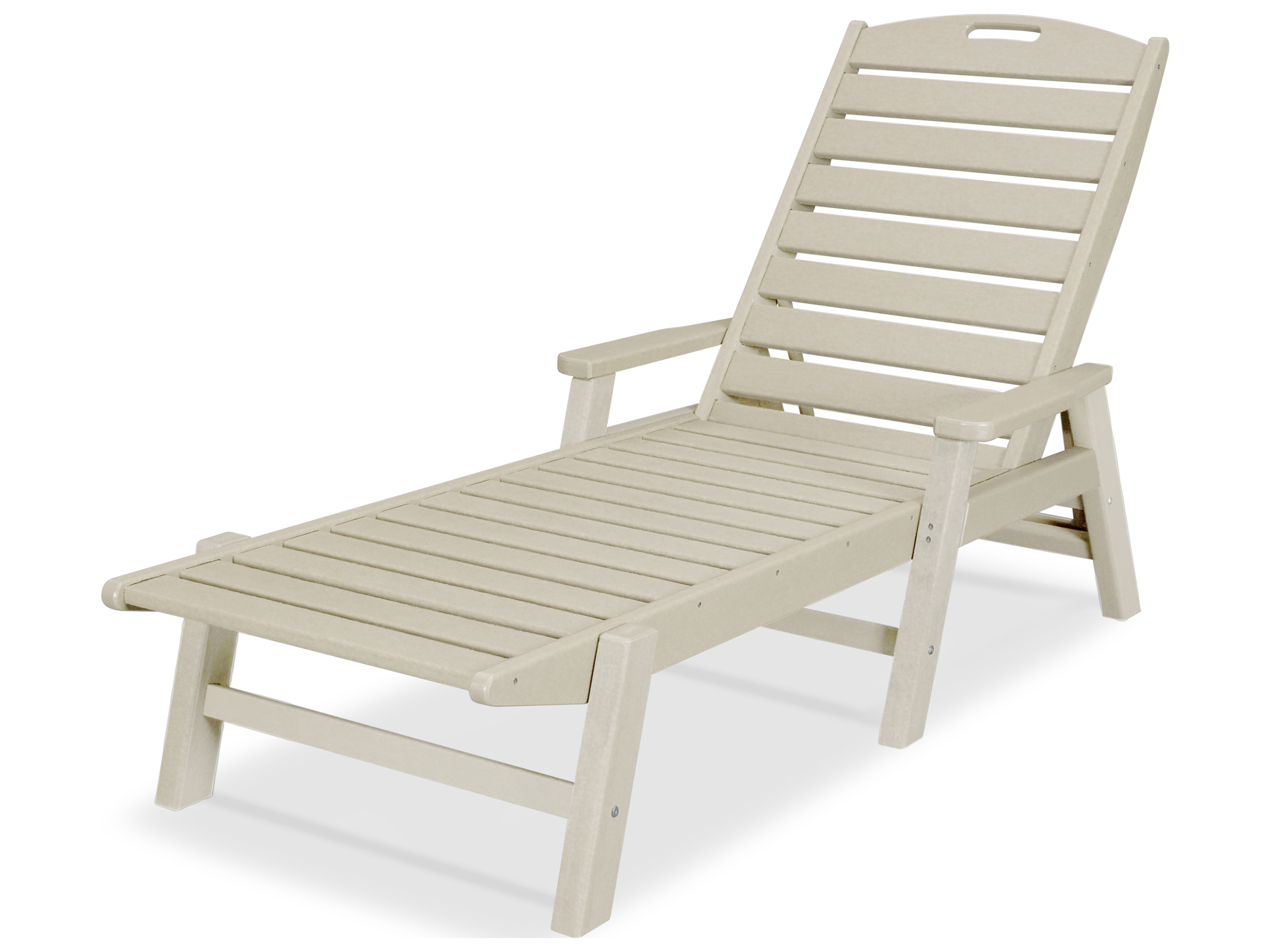 Polywood Nautical Recycled Plastic Stackable Chaise Ncc2280