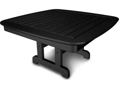POLYWOOD® Nautical Recycled Plastic 37 Square Conversation Table PWNCCT37