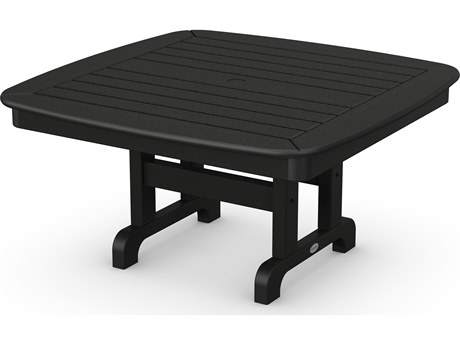 POLYWOOD® Nautical Recycled Plastic 37'' Wide Square Chat Table