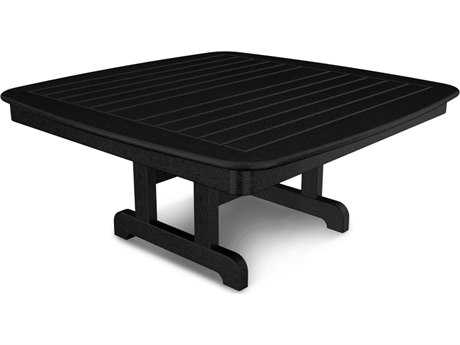 POLYWOOD® Nautical Recycled Plastic 44''Wide Square Conversation Table