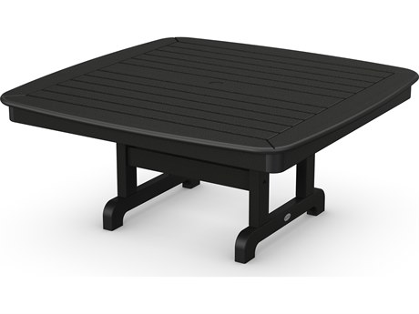 POLYWOOD® Nautical Recycled Plastic 44'' Wide Square Conversation Table