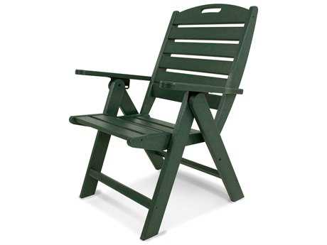 POLYWOOD® Nautical Recycled Plastic Highback Lounge Chair PatioLiving