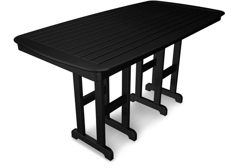 POLYWOOD® Nautical Recycled Plastic 72 x 37 Rectangular Counter Table