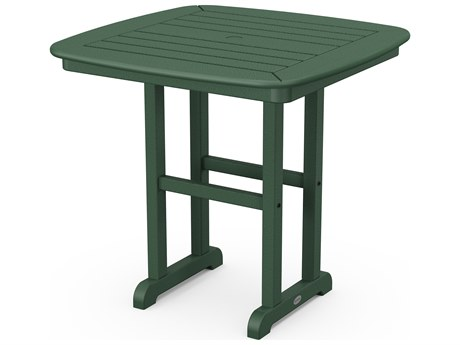 POLYWOOD® Nautical Recycled Plastic 31'' Wide Square Dining Table