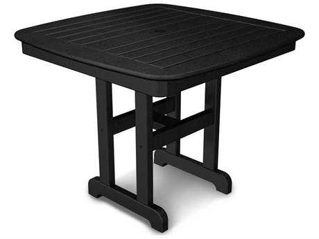 POLYWOOD® Nautical Recycled Plastic 37''Wide Square Dining Table