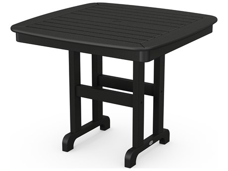 POLYWOOD® Nautical Recycled Plastic 37'' Wide Square Dining Table