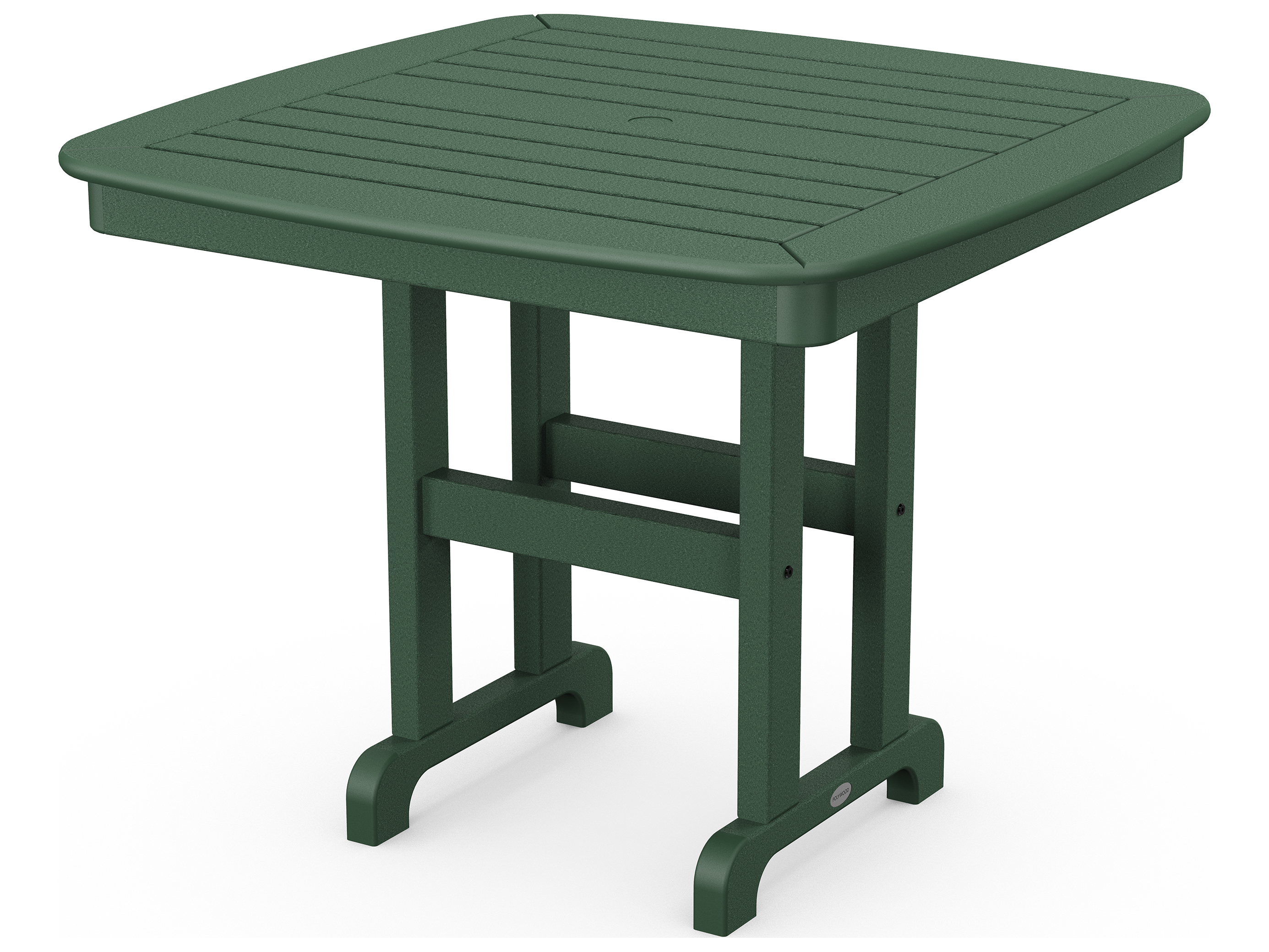 Polywood 174 Nautical Recycled Plastic 37 Square Dining Table