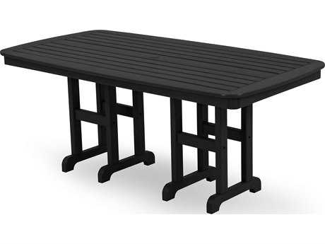 POLYWOOD® Nautical Recycled Plastic 72 x 37 Dining Table PWNCT3772