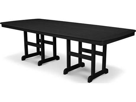 POLYWOOD® Nautical Recycled Plastic 96'' x 44'' Dining Table PatioLiving