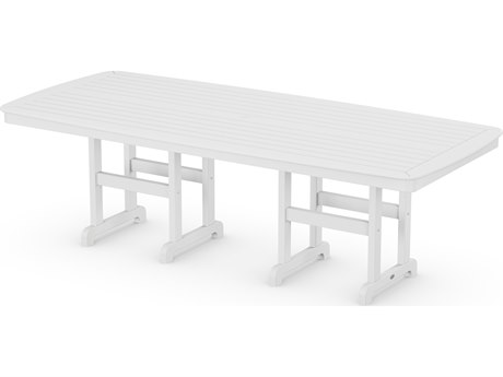 POLYWOOD® Nautical Recycled Plastic 96'' x 44'' Dining Table