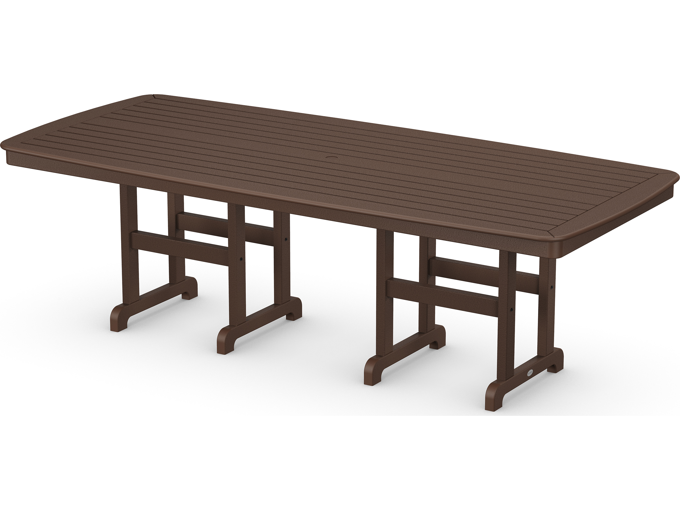 POLYWOOD Nautical Recycled Plastic 96 x 44 Dining Table