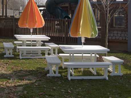 POLYWOOD® Park Recycled Plastic Table Dining Set