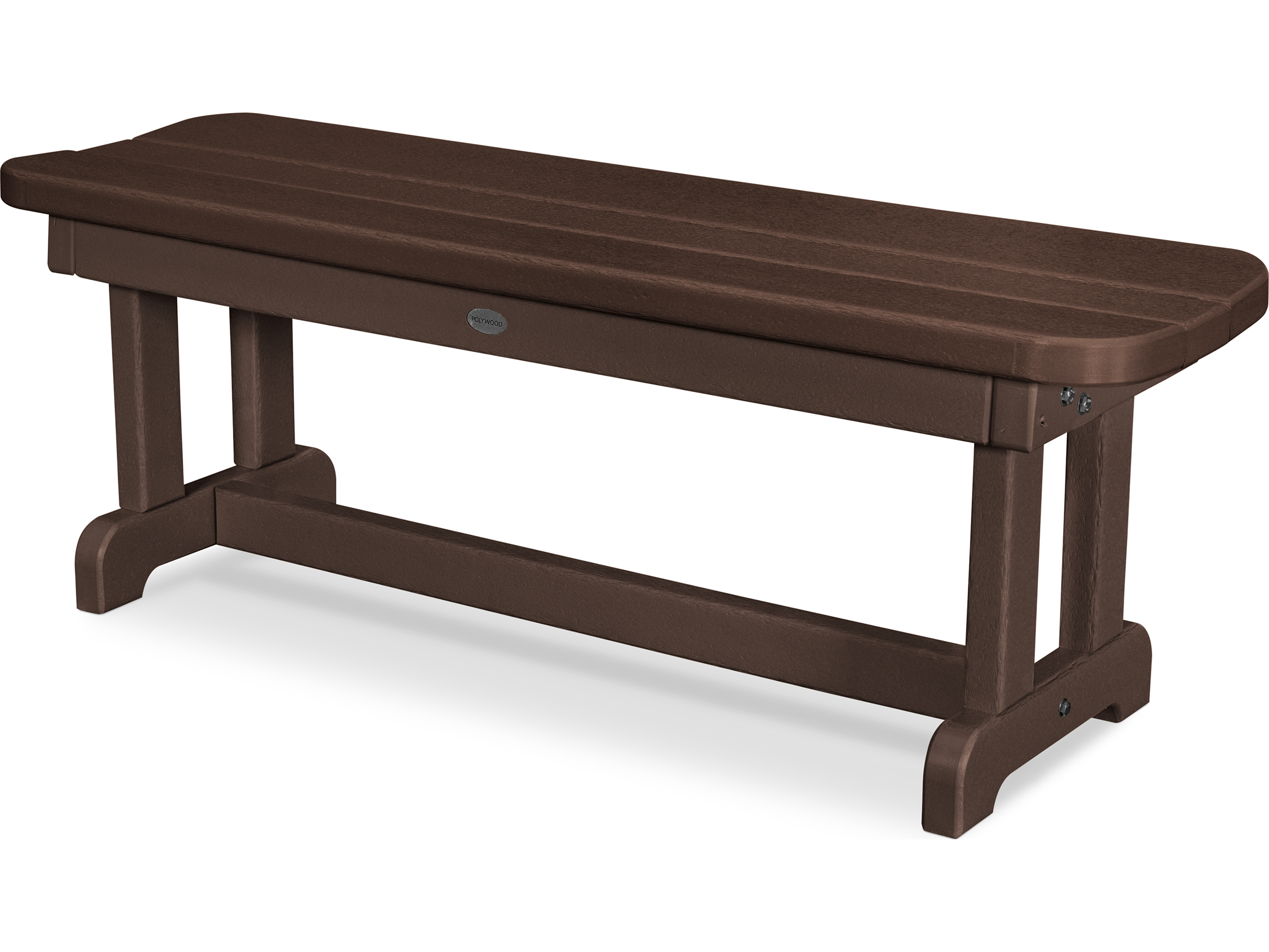 Polywood park recycled plastic 48 backless bench pbb48 Polywood bench