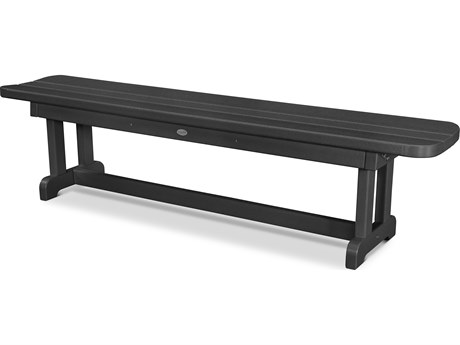 POLYWOOD® Park Recycled Plastic 72 Backless Bench PWPBB72