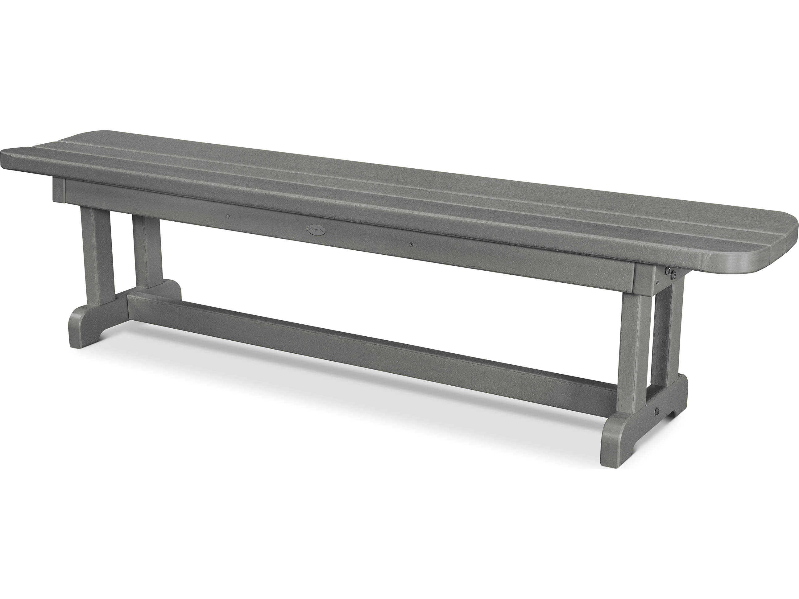 Polywood park recycled plastic 72 backless bench pbb72 Polywood bench