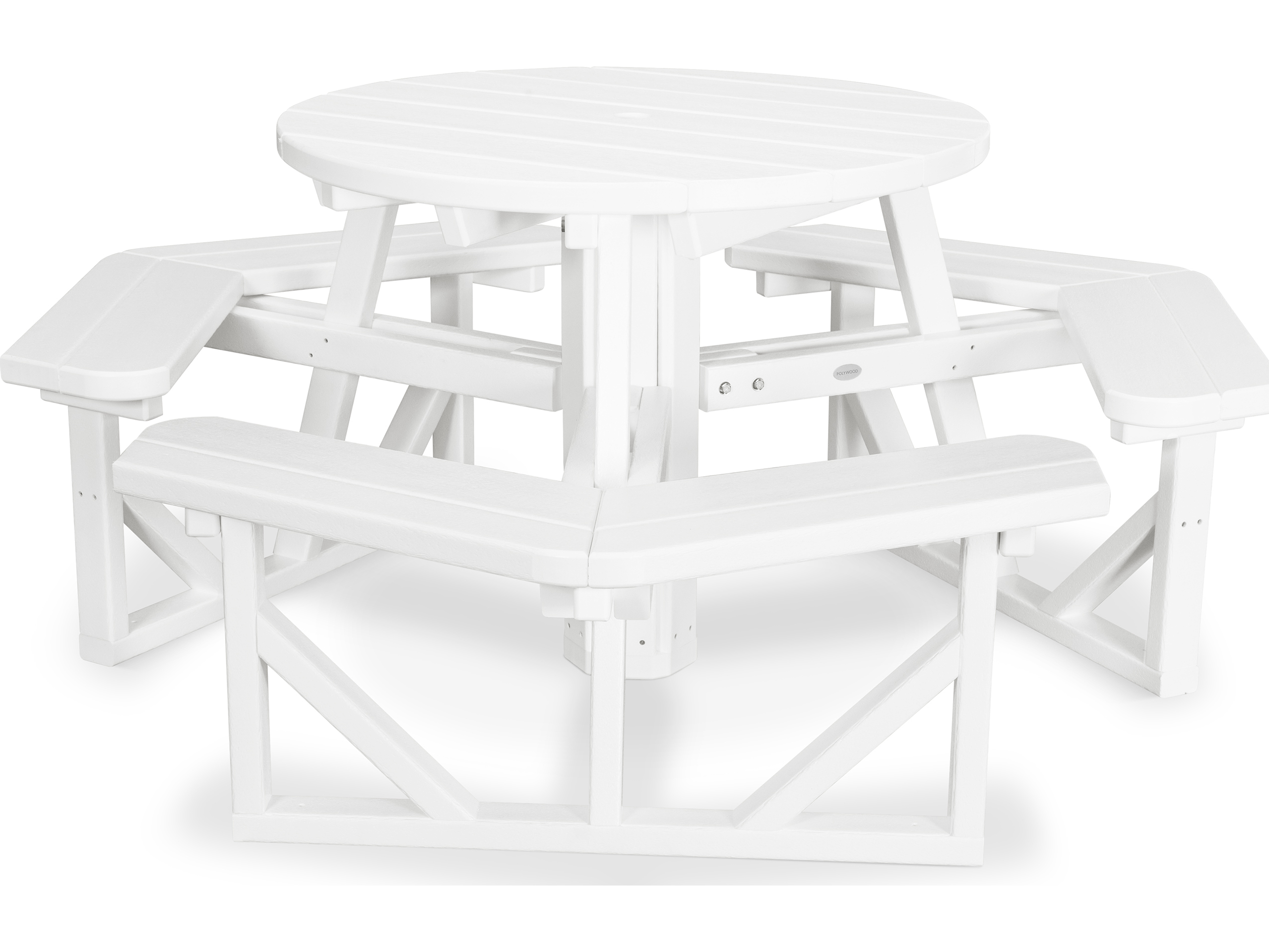 POLYWOOD Park Recycled Plastic Round Picnic Table PH - Polywood park picnic table