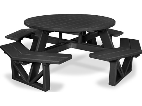 POLYWOOD® Park Recycled Plastic 53'' Octagon Picnic Table