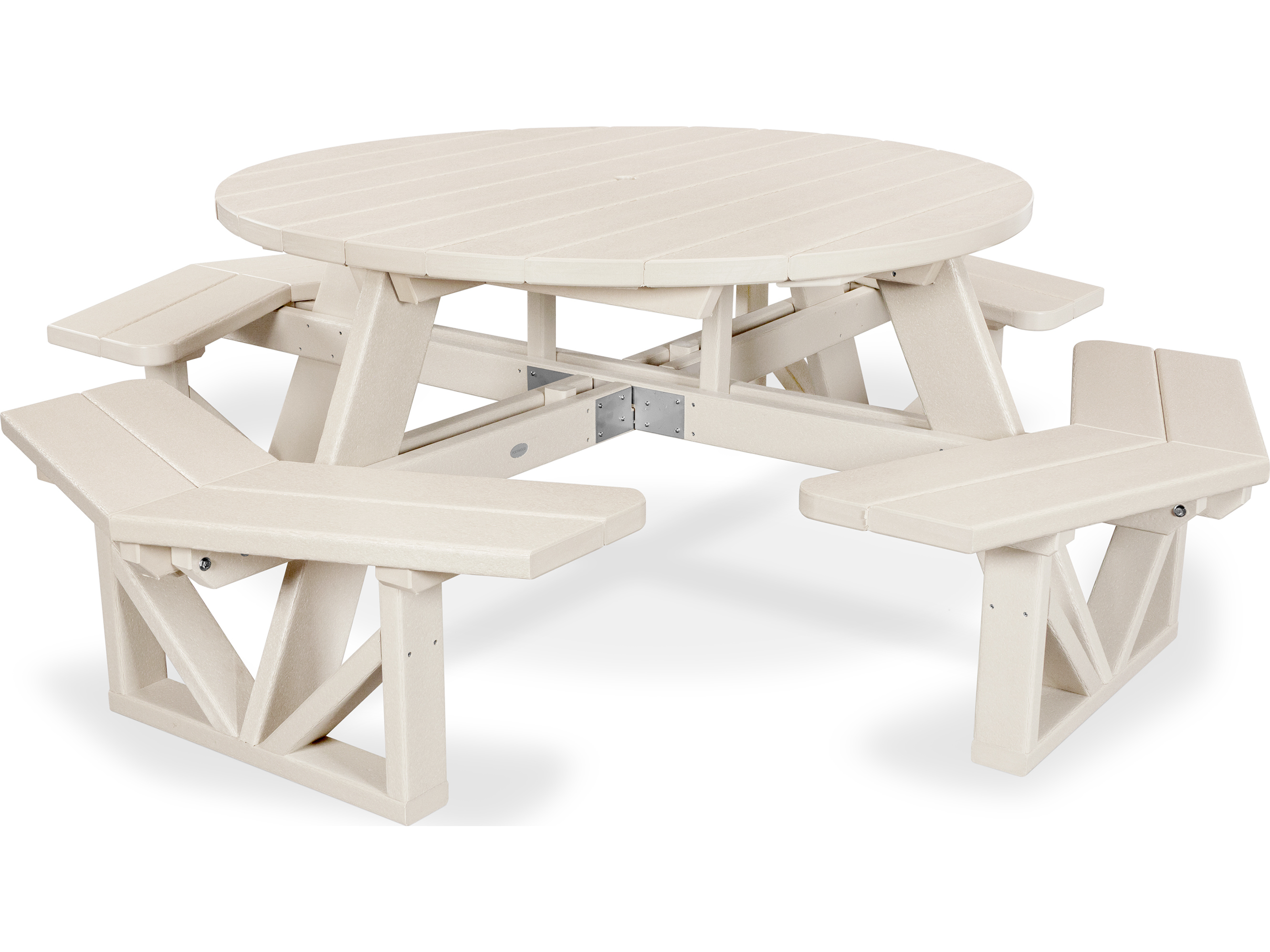 Polywood Park Recycled Plastic 53 Octagon Picnic Table
