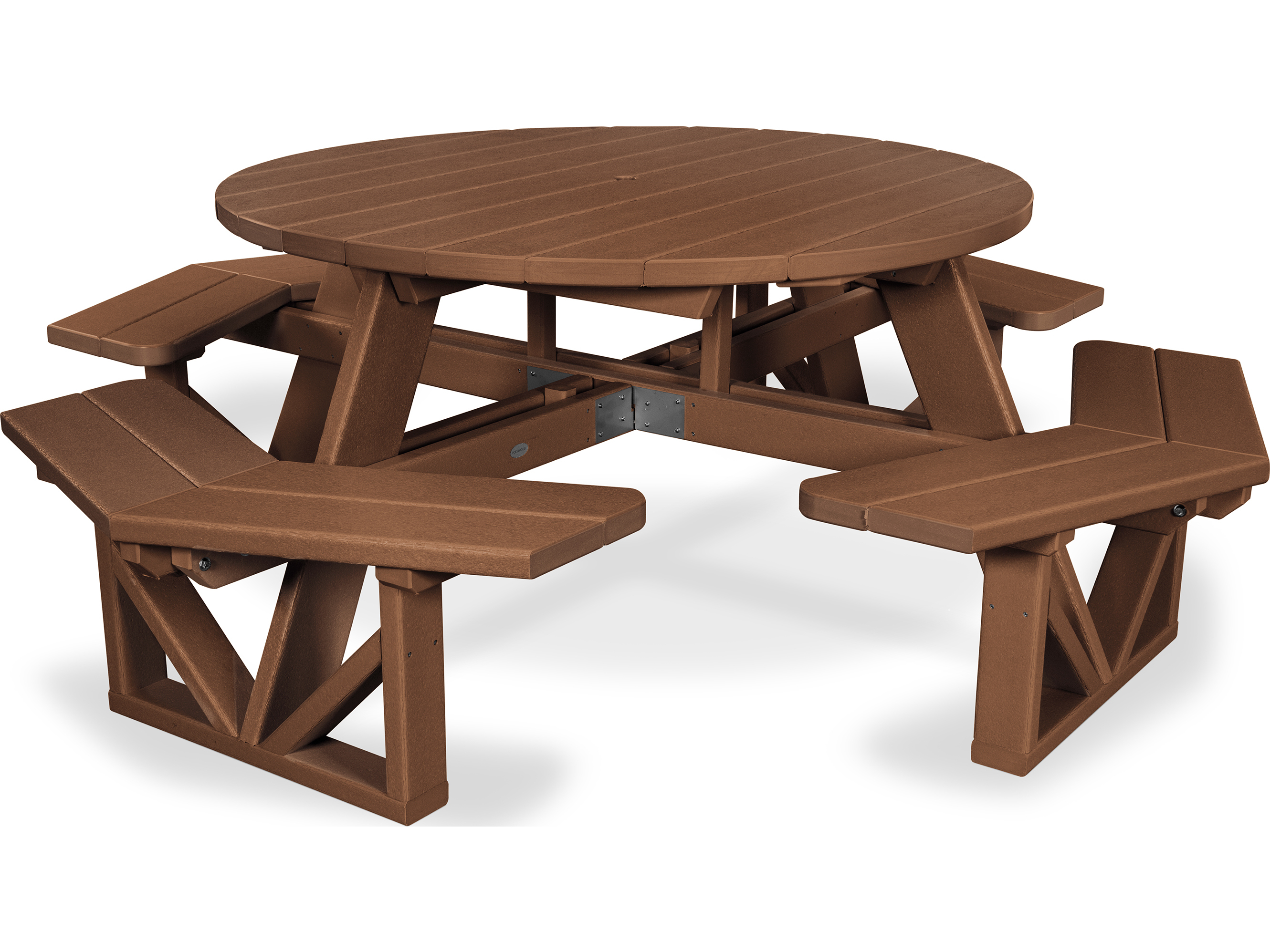 POLYWOOD Park Recycled Plastic Round Table PWPH - Recycled plastic round picnic table