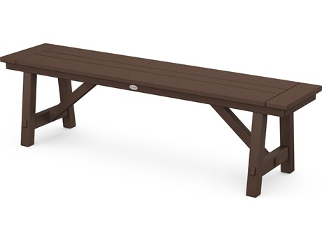 POLYWOOD® Rustic Farmhouse Recycled Plastic 65'' Backless Bench