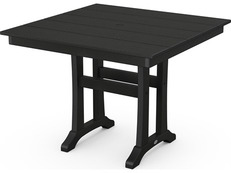 POLYWOOD® Farmhouse Recycled Plastic 37''Wide Square Dining Table