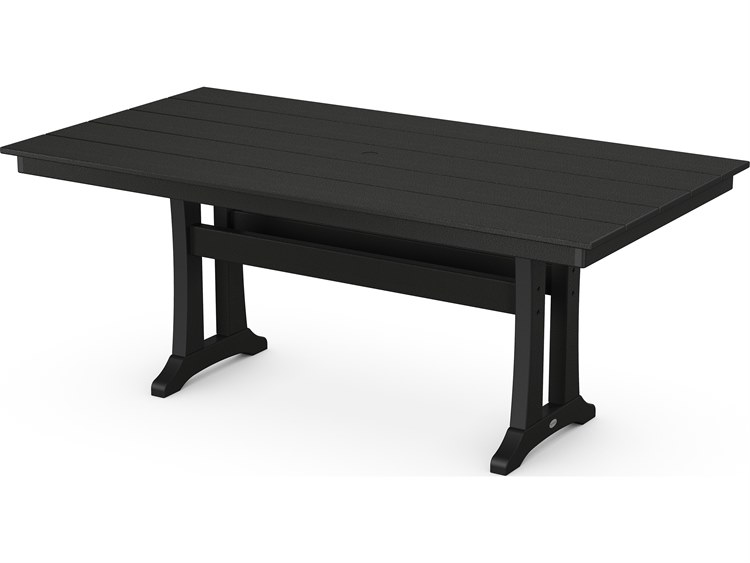 POLYWOOD Farmhouse Recycled Plastic X Rectangular Dining - Farmhouse conference table