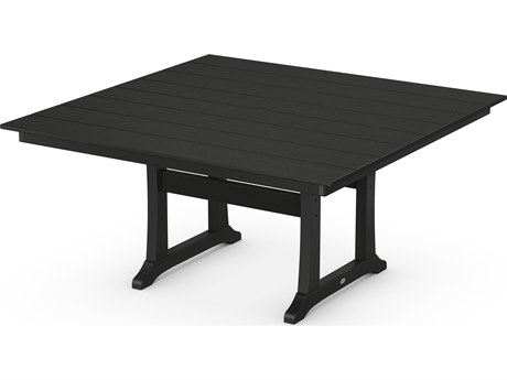 POLYWOOD® Farmhouse Recycled Plastic 59''Wide Square Dining Table