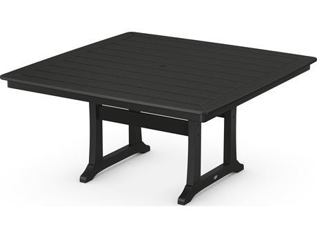 POLYWOOD® Nautical Recycled Plastic 59 Square Dining Table