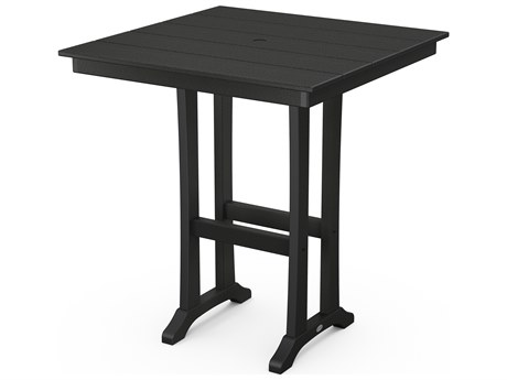 POLYWOOD® Farmhouse Recycled Plastic 37''Wide Square Bar Table