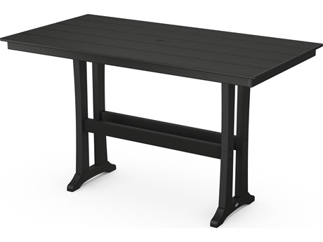 POLYWOOD® Farmhouse Recycled Plastic 72 x 37 Rectangular Bar Table