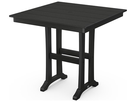 POLYWOOD® Farmhouse Recycled Plastic 37''Wide Square Counter Table