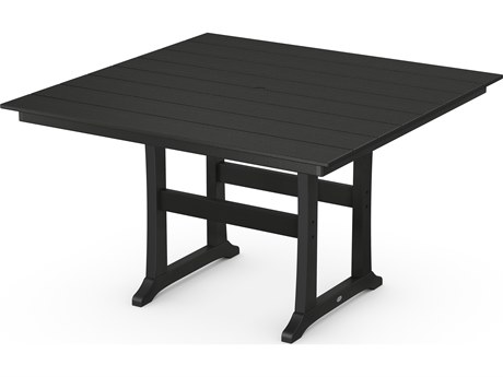 POLYWOOD® Farmhouse Recycled Plastic 59''Wide Square Counter Table