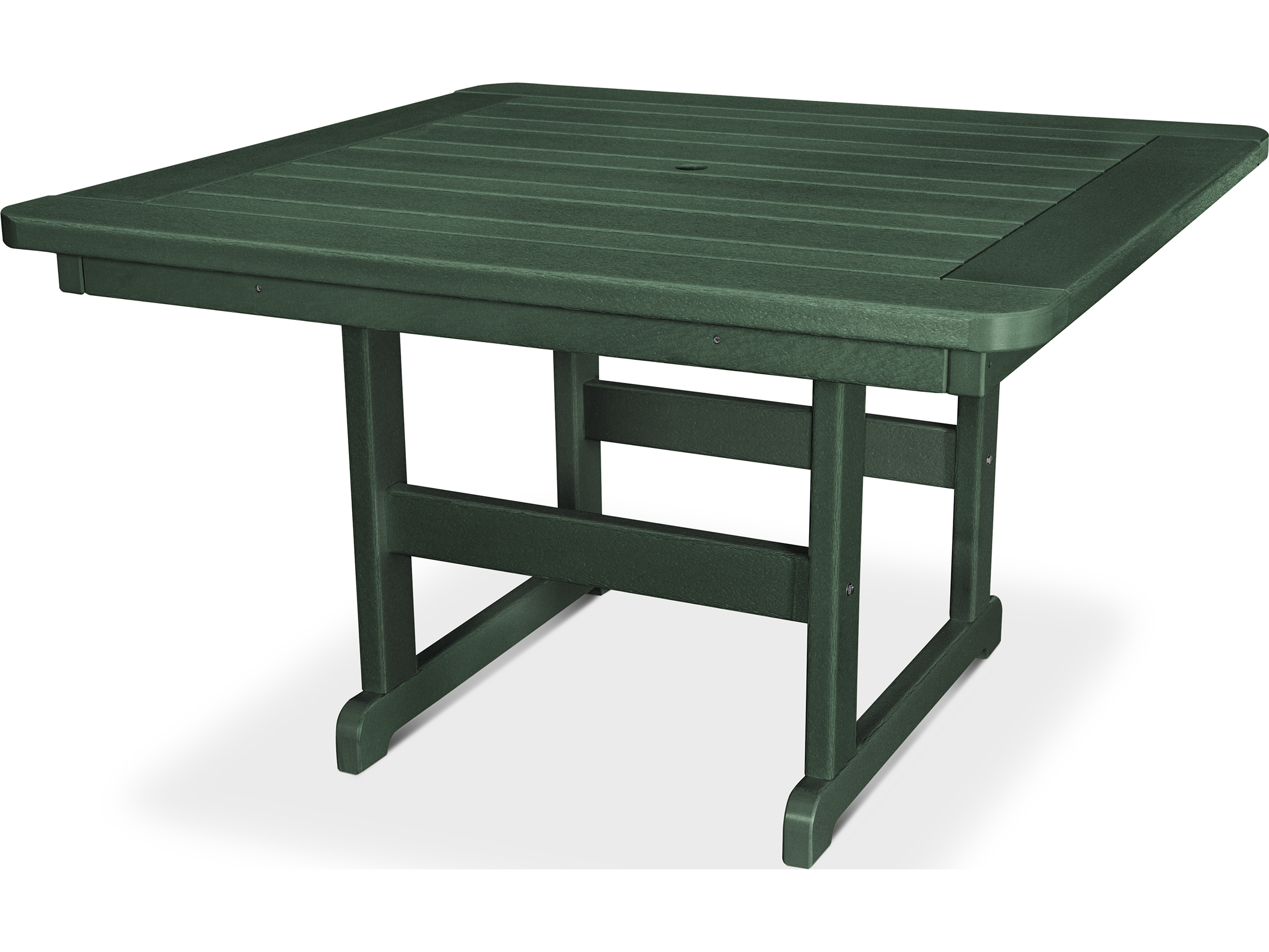 polywood park recycled plastic 48 square table pst48. Black Bedroom Furniture Sets. Home Design Ideas