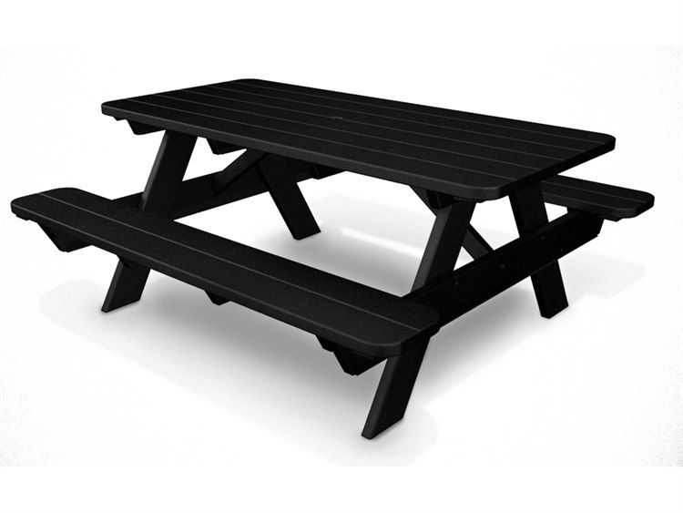 POLYWOOD Park Recycled Plastic Picnic Table PT - Plastic bench that turns into a picnic table