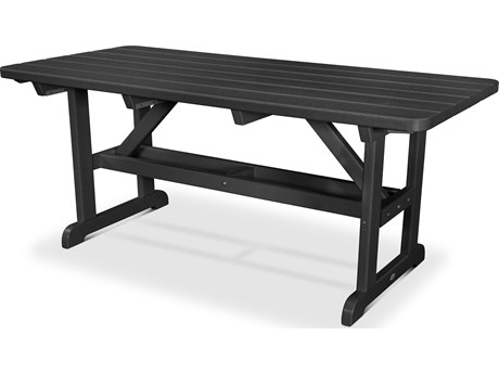 POLYWOOD® Park Recycled Plastic 72 x 36 Rectangular Picnic Table