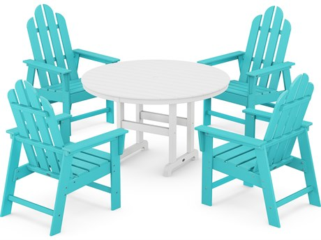 POLYWOOD® Long Island Recycled Plastic 5 Piece Dining Set