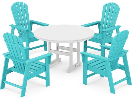 POLYWOOD® South Beach Recycled Plastic 5 Piece Dining Set