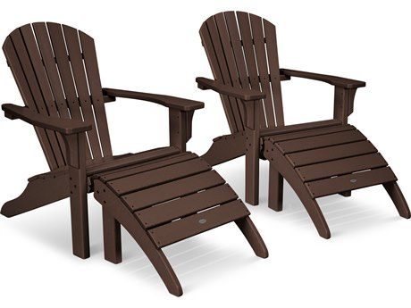 POLYWOOD® Seashell Adirondack Recycled Plastic Lounge Set