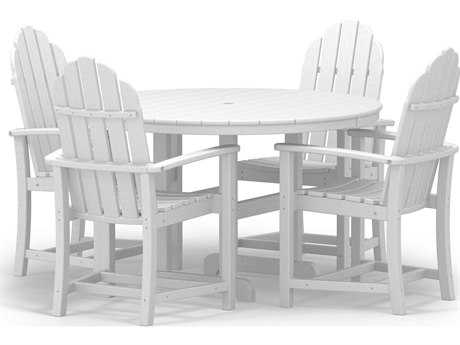 POLYWOOD® Classic Adirondack Recycled Plastic Dining 5 Piece Set