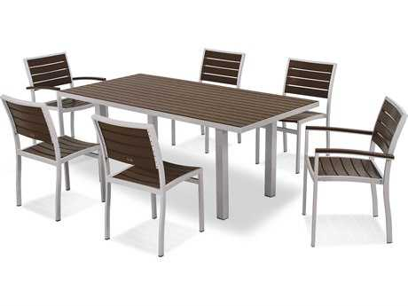 POLYWOOD® Euro Recycled Plastic 7-Piece Dining Set