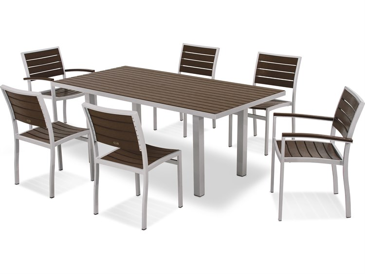 Polywood 174 Euro Recycled Plastic 7 Piece Dining Set Pws117 1