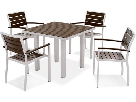 POLYWOOD® Euro Recycled Plastic 5-Piece Dining Set