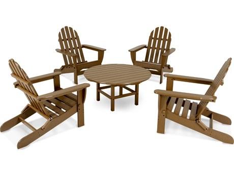 POLYWOOD® Classic Adirondack Recycled Plastic 5-Piece Lounge Set