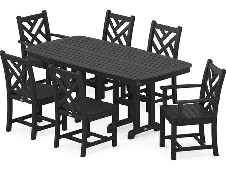 POLYWOOD® Chippendale Recycled Plastic 7-Piece Dining Set