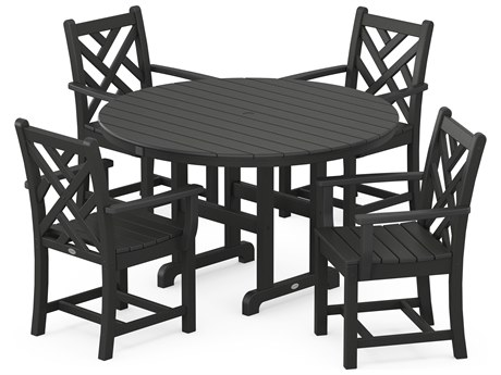 POLYWOOD® Chippendale Recycled Plastic 5-Piece Dining Set